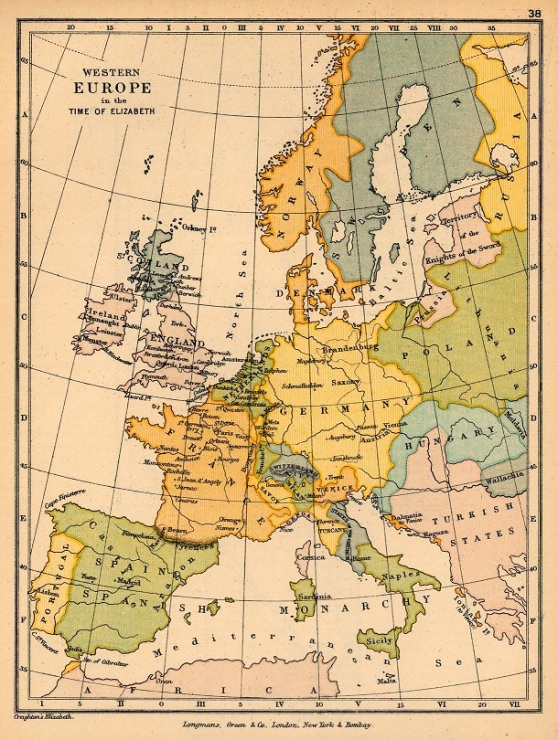 Western Europe at the time of Queen Elizabeth