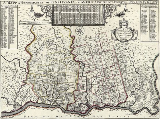 map-of-part-of-pennsylvania-1687