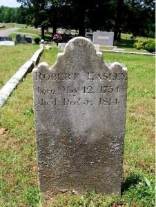 Robert Easley tombstone
